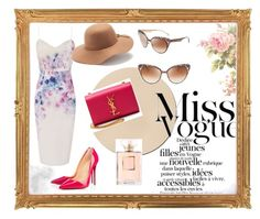 """""""#13"""" by dzeniii ❤ liked on Polyvore featuring Lipsy, Mudd, Christian Louboutin, Yves Saint Laurent, Chanel and Jimmy Choo"""