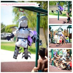 Shredder pinata for ninja turtle party