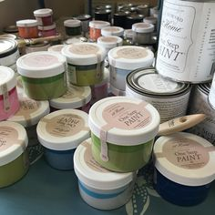 Amy Howard chalk based paint sample sizes $4 today.  Perfect size to paint that small item that you found today at an estate sale or garage sale.  Come see us while we have some good colors left.  Closing today at 4:00.  #rescuedrelicsstudio  #sale #estatesale  #garagesale  #yardsale #thrift  #gooddeal  #bargain