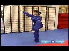 Beginner Wushu Techniques : How to Do the Pu Bu Chuan Zhang Technique in Wushu - YouTube