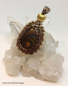 Handmade Wire Wrapped Boulder Opal by GreatHornedOwlDesign on Etsy