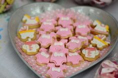 Tiny cookies at a sugar and spice girl baby shower party! See more party planning ideas at CatchMyParty.com!