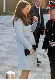 The six months pregnant Kate opens the Kensington Aldridge Academy, Jan. 19, 2015, .