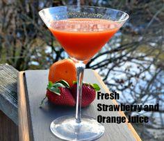 Strawberry and Orange Juice