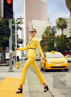 """""""The Suit Reboot"""" Michelle Buswell for Glamour US April 2015"""