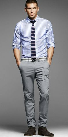 Ideas how to wear jeans mens business casual Trajes Business Casual, Business Casual Outfits, Fashion Moda, Mens Fashion, Fashion Menswear, Camisa Formal, Formal Shirts, Simple Outfits, Casual Looks