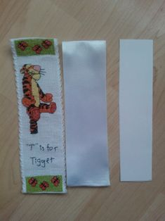 Finish for cross stitched bookmark