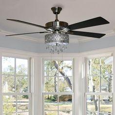 Ceiling Fan Chandelier, Ceiling Lights, Bedroom Ceiling Fans, Chandeliers, Bedroom Fan, Bedroom Kids, Master Bedrooms, Master Bathroom, Kids Room