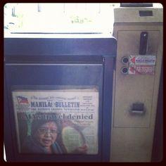 新聞自販機。アロヨ元大統領旅行禁止
