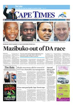 News making headlines: Mazibuko out of DA race