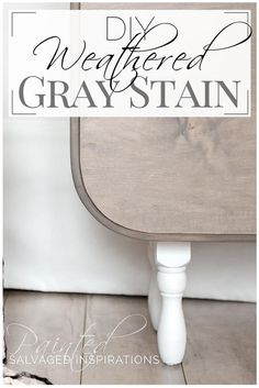 48 Ideas For Kitchen Table Grey Stain Weathered Wood Refurbished Furniture, Paint Furniture, Furniture Projects, Furniture Makeover, Diy Projects, Redoing Furniture, Weathered Furniture, Furniture Dolly, Furniture Market