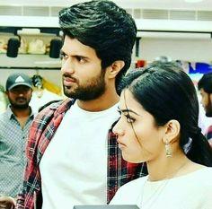 Lool they both look lost 😂😂 Actors Images, Tv Actors, Actors & Actresses, Beautiful Girl Indian, Beautiful Indian Actress, My Princess, Vijay Actor, Vijay Devarakonda, Actor Photo