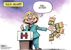 Slick Hillary © Nate Beeler,The Columbus Dispatch,hillary clinton, slick, feel my pain, scandal, mousetrap, clinton foundation, bill clinton, politics, democrats, candidate, campaign, 2016, election, president, presidential, foreign, donors, donations, email, ethics