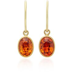 Mallary Marks Hard Candy 18K Gold Spessartite Garnet Earrings ($1,930) ❤ liked on Polyvore featuring jewelry, earrings, orange, yellow gold jewelry, 18k jewelry, orange earrings, 18k gold jewelry and yellow gold earrings
