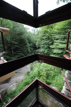 """""""...the light came in where it never came before."""" ~ Frank Lloyd Wright on his corner windows Fallingwater"""