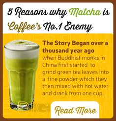 COFFEE VS MATCHA – 5 REASONS WHY MATCHA IS COFFEE'S NO.1 ENEMY - FIND OUT MORE http://enzomatcha.com/blogs/coffee-vs-matcha-5-reasons-why-matcha-is-coffees-no-1-enemy/