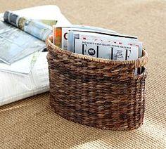 Хранение Корзины, Плетеные Корзины Хранения & Сплетенные Корзинки | Поттери Барн