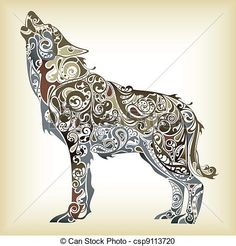 Wolf Illustrations and Clipart. 4,430 Wolf royalty free ...