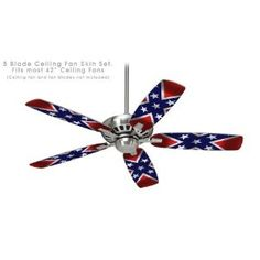 Ceiling Fan Skin Kit (fits most 42inch fans) - Confederate Rebel Flag - (Fan and fan blades NOT INCLUDED) by wallthat http://www.amazon.com/gp/product/B0052D5LHW/ref=as_li_ss_tl?ie=UTF8=1789=390957=B0052D5LHW=as2=southern085-20