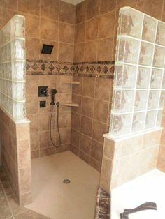 Shower Tile Barrier Free Bathrooms #WetRoomDesigns >> Get great ideas for barrier free bathroom designs at http://www.disabledbathrooms.org/handicap-bathroom-design.html: