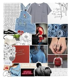 """""""we're embedded in my mind"""" by everything-is-peachy ❤ liked on Polyvore featuring GET LOST, Monki, AllSaints, Vans, Prada and Dosa"""