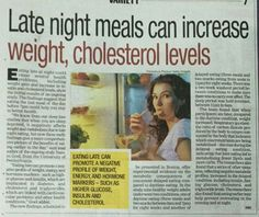 Proper timing of meals especially, dinner are really important... As late night meals can increase weight and cholesterol.  #DrAtulPeters #TeamBariatric #Health