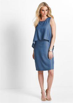 Tencel šaty modrá stone - bpc selection premium koupit online - bonprix.cz