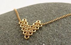 Baguette Diamond Pendant in Solid Gold / Dainty Diamond Necklace / Round Disc Pendant Baguette / Gold Necklace / Birthday Gift for Her - Fine Jewelry Ideas Hex Nut Jewelry, Wire Jewelry, Jewelry Crafts, Beaded Jewelry, Jewlery, Chainmaille, Diy Collier, Hardware Jewelry, Bracelets