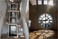A clock tower triplex