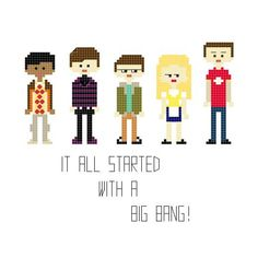 The Big Bang Theory pattern by YouMakeMeSewHappy
