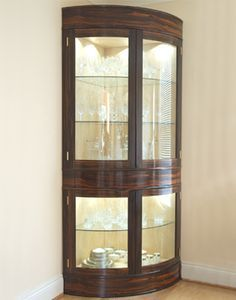 Superieur Contemporary Curved Corner Curio Cabinet | 722 Furniture | Pinterest |  Corner, Dining Area And Contemporary