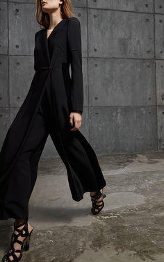 Long Sleeve Wrap Jumpsuit by ANTONIO BERARDI for Preorder on Moda Operandi