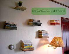 "Floating ""Book""shelves DIY Tutorial"