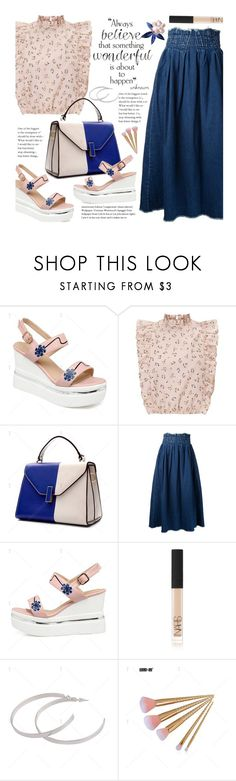 """""""Preppy"""" by beebeely-look ❤ liked on Polyvore featuring Maison Mihara Yasuhiro, NARS Cosmetics, preppy, streetwear, denimskirt and twinkledeals"""