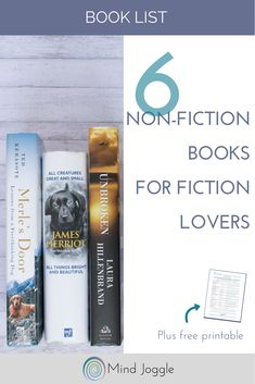 6 non-fiction books that people who usually read fiction will love.   MindJoggle.com #books #nonfiction #bookworm #amreading