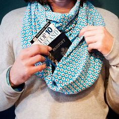 Scarf with hidden pocket for valuables and contraband ($37+).   21 Things Every Traveler Wishes They Owned