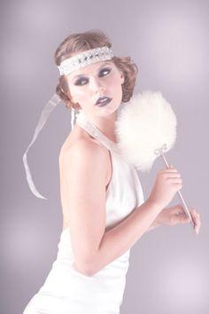 Agnes, Fan, 1920s, deco, feather, ivory, wedding, bridal, fan