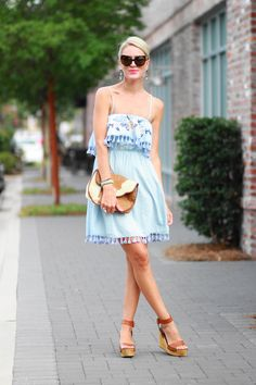 Belle de Couture: Embroidered Chambray Dress