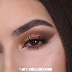 Sparkly Brown Makeup Creative Makeup Looks Brown Makeup Sparkly Makeup Eye Looks, Eye Makeup Steps, Eye Makeup Art, Beautiful Eye Makeup, Natural Eye Makeup, Smokey Eye Makeup, Skin Makeup, Maquillage On Fleek, Makeup Looks Tutorial