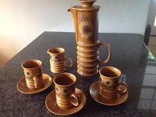 Vintage Retro Carlton Ware Coffee / Tea Set Sunflower Design