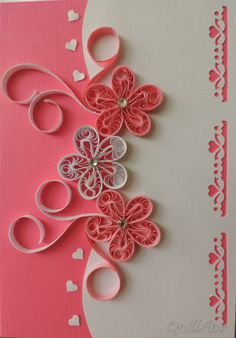 Design with flowers - pink and white