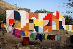 eltono: the french artist who painted the lopes' family home on cape verde Mural Wall Art, Mural Painting, House Painting, Murals Street Art, Street Art Graffiti, Garden Mural, Cap Vert, Street Installation, Design Blogs
