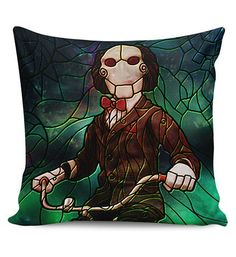 $5 Flash Sale Horror Stained Glass Design Pillow Covers