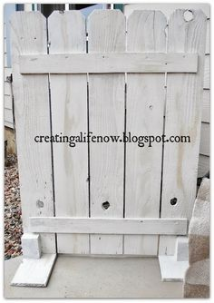 no money diy air conditioner screen, diy, how to, outdoor living, Painted it white Pallet Fence, Wooden Fence, Pallet Planters, Pallet Playhouse, Gabion Fence, Fence Stain, Air Conditioner Screen, Air Conditioner Cover Outdoor, Ac Cover