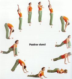 pozdrav slunci Yoga Gym, Yoga Fitness, Health Fitness, Interesting Health Facts, Yoga Flow, Natural Medicine, Yoga Teacher, How To Do Yoga, Back Pain