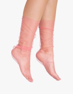 // Pink Tulle Sock