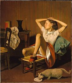 [one of my all-time favorites] Thérèse Dreaming Balthus (Balthazar Klossowski) (French, Paris 1908–2001 Rossinière) Date: 1938 Medium: Oil on canvas