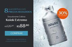 Nesta semana, até 04/09, selecionamos os 8 produtos queridinhos da Rede Natura para oferecer aos clientes com preço reduzido. Compre Desodorante colônia Kaiak Extremo com 30% de desconto: de R$ 126,90 por R$ 88,80. Promoção válida até 04/09, ou enquanto durarem os estoques. http://rede.natura.net/espaco/alinelomba