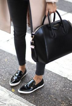 slip on trainers. street style. details.