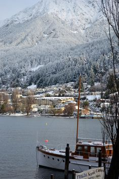 Queenstown winter last year...I live up under those trees on the right looking back over the lake